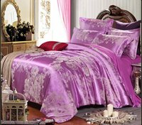 Wholesale Bedspread Silk - King Size Bedspreads Silk Cotton Duvet Cover Sets European-Style Bedding Four-Piece Cotton Bedding Sets Quilt Luxury Bedding