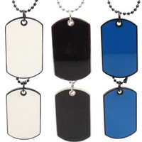 Wholesale Army Pendants - Mens Pendant Necklace Chains for Men Jewelry Dog Tags Chain Beauty Army Tactical Style Black Trend Jewelry