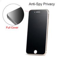 protector de pantalla de lentes templados para iphone al por mayor-Para iPhone XS Max 8 7 Plus Privacy Screen Protector Shield Anti-Spy Glass templado para IPhone 6 6S 6.5 pulgadas XR