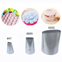 Wholesale Icing Nozzle Sets - Wholesale- 3 pcs Set Basketweave Cream Metal Tips Stainless Steel Icing Piping Nozzles Cake Cream Decorating Cupcake Pastry Tools