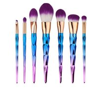 7pcs/set spiral brush set - Colorful makeup brushes Unicorn Spiral Mermaid Makeup brush set Foundation Powder Blush Eyeshadow Cosmetic Brush Kit Tools set