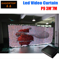 Wholesale Curtain Backdrops For Weddings - P9 3M*7M LED Vison Curtain With PC Mode Controller Tricolor LED Video Curtain for DJ Wedding Backdrops 90V-240V
