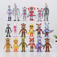Wholesale Teddy Bear Puppets - 6pcs  Set 10cm Five Nights At Freddy 'S 4 Sister Location Chica Funtime Foxy Ballora Puppet Gold Freddy Fnaf Pvc Action Figure Toy