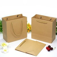 Wholesale Gift Bag Paper Boutique - kraft paper Shopping Bags with Handle Pink Boutique Clothes Gift Packaging Bag Customizable