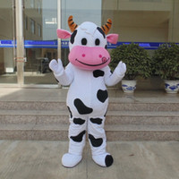 Wholesale Cow Costumes For Sale - customized mascots funny white milk cow mascot costume adlut outfits cattle cartoon character mascots for sale