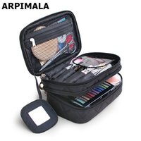 Wholesale Wholesale Makeup Box Cases Professional - Wholesale- ARPIMALA 2017 Luxury Cosmetic Bag Professional Makeup Bag Travel Organizer Case Beauty Necessary Make up Storage Beautician Box