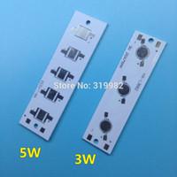 geführt für pcb board weiß großhandel-Großhandels-5pcs LED Rechteck Aluminium Grundplatte 3W 5W Hochleistungsstrahler Verwendung für LED-Lampe Chip White PCB Board