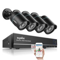Wholesale Night Vision System Ship - SANNCE® CCTV Security System 4CH HD 5 in 1 DVR Support AHD CVI TVI Analog Cameras with 720P Night Vision Remote Control Free Shipping