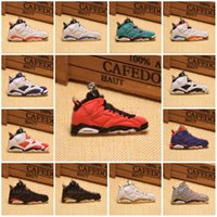 Wholesale Sneakers Keychains Basketball - 20 Styles Fashion Sneakers Keyrings Charm Basketball Shoes Key Chain Rings Novelty Sneakers Keychains Hanging Accessories C90L