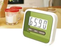 temporizadores multifunción al por mayor-Populares Multifunción LCD Cocina Cocinar Temporizador Cuenta atrás Reloj Alarma Fuerte Magnética