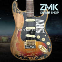 Wholesale Electric Guitars Srv - Wholesale-New Style high quality handmade RELIC ST electric guitar,Alder wood body and Rosewood fingerboard SRV ST guitar,Free shipping