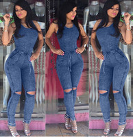 Wholesale Corduroy Jeans - New arrival The new cowboy sundra was thin chest chest with piece of pants jeans NJ016