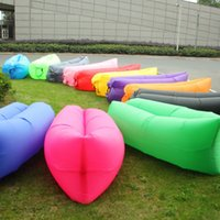 Self-inflating outdoor bean bag chairs - Lounge Sleep Bag Lazy Inflatable Beanbag Sofa Chair Living Room Bean Bag Cushion Outdoor Self Inflated Beanbag Furniture DHL free