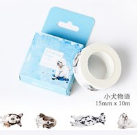 Atacado- 2016 1 Box New Cute Dog Pet Washi fita fita adesiva DIY Scrapbooking etiqueta etiqueta fita adesiva H0077