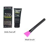 cara de máscara preta para venda venda por atacado-Venda quente Shills Peel-off Máscaras g máscara preta 50ML Blackhead e escova Shills kit