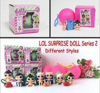 Wholesale Collectible Dolls Wholesale - 2017 LOL SURPRISE DOLL Series 2 Dress Up Toys baby Tear change egg can spray Realistic Baby Dolls lil sisters 45+ to Collect