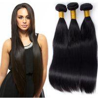 Wholesale Bresilien Hair - Modern Show Virgin Straight 3 Bundles Indian Straight Hair Cheveux Bresilien Raw Indian Hair Bundles Indian Straight Hair