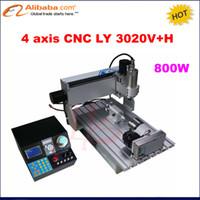 mini cnc roteadores venda por atacado-Atacado-2017 New 4 eixos Mini CNC3020 máquina de gravura em metal, 3020 CNC Router, 2030 CNC 800W eixo, Mini Gravador CNC para trabalhar madeira