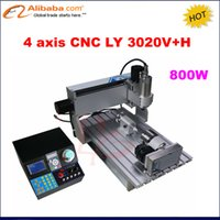 Wholesale Engraving Metal For Cnc - Wholesale- 2017 New 4 axis Mini CNC3020 Metal engraving machine, 3020 CNC Router, 2030 CNC 800W spindle, mini CNC Engraver for woodworking