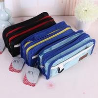 Wholesale Multi Layer Case - new boys large capacity Oxford fabirc Multifunctional Pencil Bag Durable Pencil Case Multi-Layer children student school Storage pouch