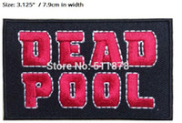 Wholesale heroes marvel comics - SUPERHERO SUPER HERO DEADPOOL Logo Movie TV Series Fancy Dress Costume Embroidered iron on patches MARVEL COMICS For Clothing