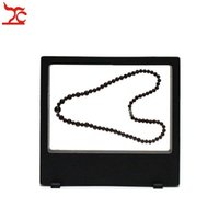 Wholesale Retail Necklace Display - Retail Multifunctional PET Elastic Membrane Jewelry Display Window Charm Necklace Bracelet Watch Accessories Display Box 18*20cm
