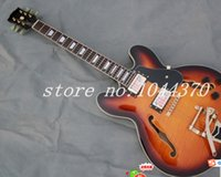 Wholesale Guitar 335 Sunburst - have stock Vintage Sunburst 335 jazz Hollow guitar free shipping