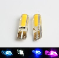 Wholesale Led White Bulbs Error - New T10 led COB Wedge Marker Lamp W5W car bulbs Canbus No error led light parking 12V 194 501 T10 LED Car Side Light