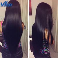 Wholesale Genesis Hair Wholesale - MikeHAIR Genesis Brazilian Hair Weaves 4Pcs Lot Queen Hair Products Natural Straight Peruvian Indian Malaysian Human Hair Bundles Extensions