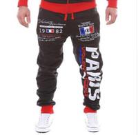 Wholesale Denim Sweat - 2107 fashion men casual jogger pants fitness mens sweat pants jumpsuit hip hop sweatpants harem pants male pantalon homme