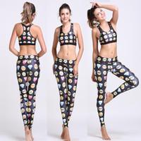 Wholesale Sleeveless Spandex Suits - Women 2 Pcs 3D Print Yoga Set Fashion Sportwear Sport Pants+ Yoga Bra Breathable Quick Dry Yoga Sets Women Gym Clothes Gym Suits Sport Suits
