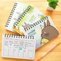Wholesale Totoro Paper - Wholesale- Cartoon Totoro Weekly plan Spiral notebook Agenda for week Schedule organizer planner Cuadernos office School supplies 6821