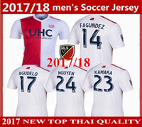 Wholesale New England Football Jersey - Free shipping 2017 MLS New England socce jerseys new thai quality 17 18 Lee Nguyen Kelyn Rowe Revolution soccer uniform Football shirts