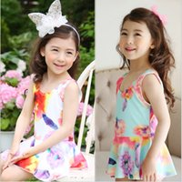 Wholesale Minnie Mouse Swim Suits - 2017 retail Girls Swimwear Minnie Mouse One Pieces Swimsuit Kids Ruffled Swimming Suit For Girl Children Bathing Suit With Cap