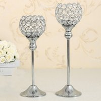 Wholesale Cup Holders For Tables - Decorative Crystal Candle Holder Set for Wedding Party Decoration,Dinning Room Table Candlestick Centerpieces,Best Wedding Birthday Gifts