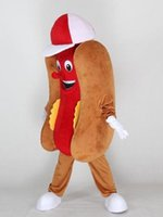 Wholesale Hotdog Mascot Costume - Food Hotdog Mascot Costume Fancy Birthday Party Dress Halloween Carnivals Costumes With High Quality For Adult