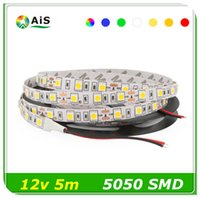 Doble PCB SMD 5050 RGB llevó la luz de tira 60leds / m de doble cara No-Impermeable IP20 Tape ruban tiras 5m DC12v decoración interior blanco