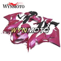 Rivestimenti per Kawasaki ZX-6R ZX6R 09 10 11 12 2009 -2012 ABS Plastics Injection Kit di carenatura del motociclo Kit corpetto Rosa pannelli carrozzeria