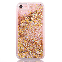 Diamond PC Hardcas Flottant flottant Quicksand Swing Sable Movant Bling Glitter Liquid Sparkle Crystal Phone Case pour iphone 66s / 7 / 7s / 7s plus