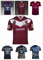 Wholesale Black Cowboy Shirt - Best quality!2017 NRL Maroons Queensland rugby jersey Shirts North Queensland Cowboys Rugby Jerseys size S-3XL Free shipping!