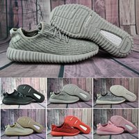 Wholesale Summer Cut Out Boots - 2018 Cheap Wholesale Discount Kanye West Boost 350 Pirate Black Low Sports Running Shoes Women & Men Sneakers Training 350 Boots