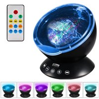 Amazing romantico Colorful Aurora Sky Holiday Gift Cosmos Proiettore Sky Master LED Stellato Night Light Proiettore Ocean Wave Ocean