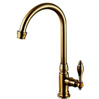 Wholesale Antique Brushes - BaiDaiMoDeng kitchen washstand antique single faucet hand washing bowl 360 ° rotation long water faucet gooseneck swan faucet retro single l