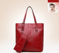 Wholesale Cheap Purses Handbags Sale - cheap beat designer shoulder bags for women Hobo purses fashion handbag design alligator leather laptop bags 2 sets sale