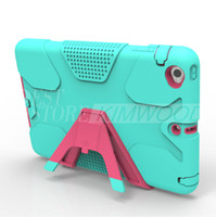 Wholesale Ipad Cover Sticker - Defender Armor Case With Sticker Colorful Shock Proof Case For iPad Mini 123 ipad 234 Free Shipping DHL