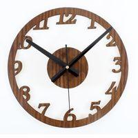 Wholesale Mute Clock Vintage - Wall Clock Absolutely Mute Second Clocks Quartz Digital Vintage Metal Retro Roman Numerals Living Room Modern Wall Decorations Watches