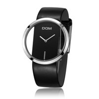 Wholesale Dom Sapphire - Luxury DOM lovers couple luxury brand waterproof style leather watches fashion 2016 Womens Dress Fashion Brand Wristwatches