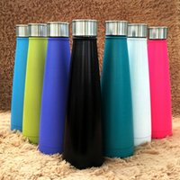Wholesale New Cola bottle Double Layers Vacuum Stainless Steel ml sports Water cups Tumbler Rambler Portable cola Cups for travel