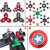 Wholesale Choice Metals - 2017 New arrive avengers fidget spinner EDC Hand Spinner Fidget Toy Good Choice For decompression anxiety Finger Toys with best bearing