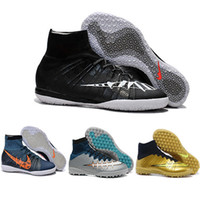 Wholesale Ic Cream - New Free Shipping 2016 Elastico Superfly IC Indoor Soccer Shoes,High Ankle Superfly TF Turfc Soccer Boots Futsal football